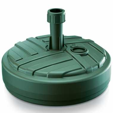 Goedkope 1x stuks ronde kunststof parasolvoeten groen 10 liter