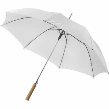 Goedkope automatische paraplu 102 cm doorsnede wit