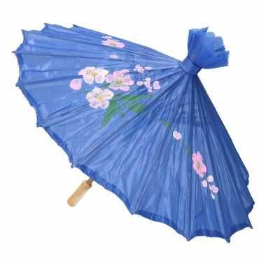 Goedkope chinese stijl paraplu groot blauw