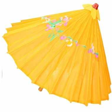 Goedkope chinese stijl paraplu groot donker oranje