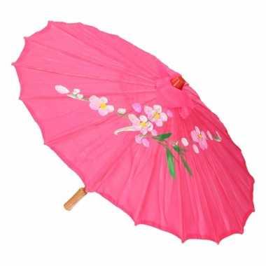Goedkope chinese stijl paraplu groot fuchsia