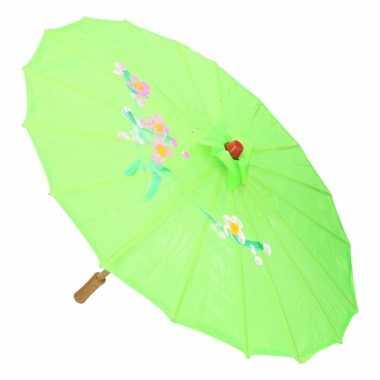 Goedkope chinese stijl paraplu groot groen