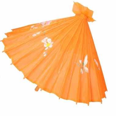 Goedkope chinese stijl paraplu groot oranje