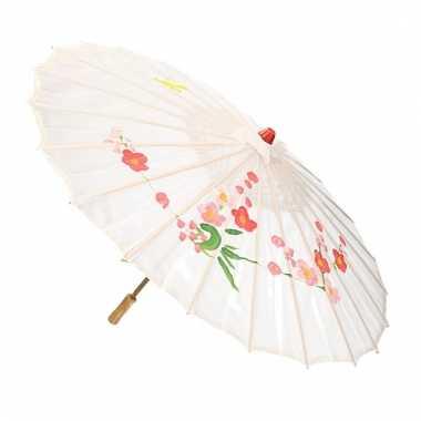 Goedkope chinese stijl paraplu groot wit
