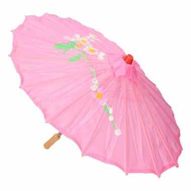 Goedkope chinese stijl paraplu roze