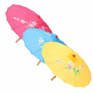 Goedkope chinese stijl paraplu wit