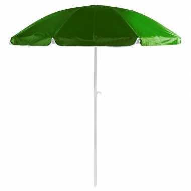 Goedkope groene strand parasol van nylon 200 cm