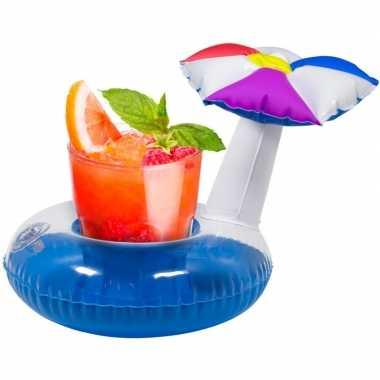 Goedkope opblaasbare drankhouder parasol 22 cm