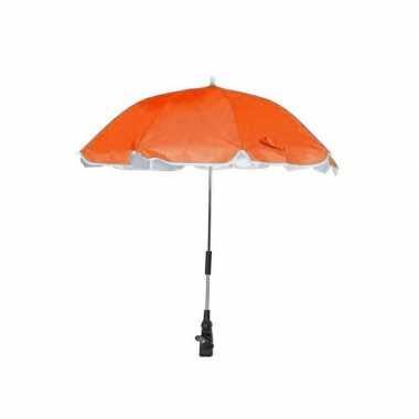 Goedkope oranje parasol voor stoel of kinderwagen 100 cm
