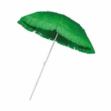 Goedkope rieten strand parasol groen