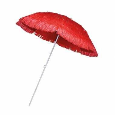 Goedkope rieten strand parasol rood