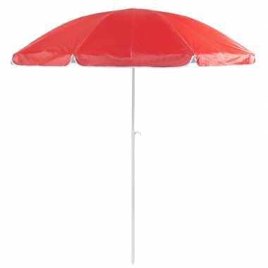 Goedkope rode strand parasol van nylon 200 cm