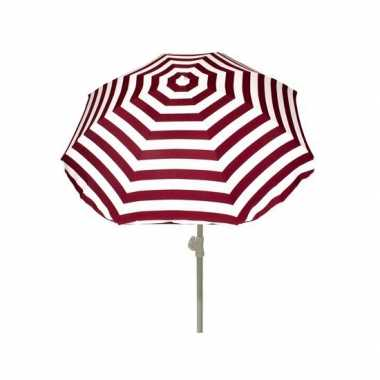 Goedkope rood gestreepte zomer parasol 180 cm