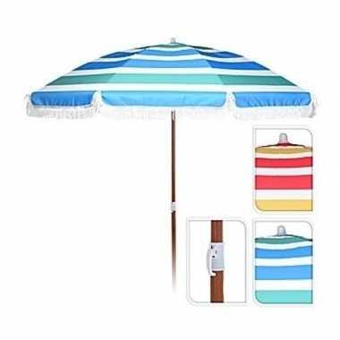 Goedkope rood/witte parasol 180 cm