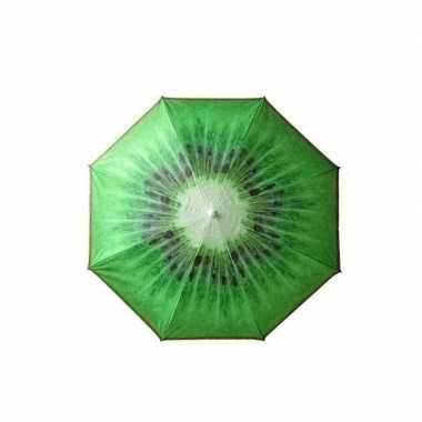 Goedkope verstelbare strandparasol / parasol met kiwi print 180 cm