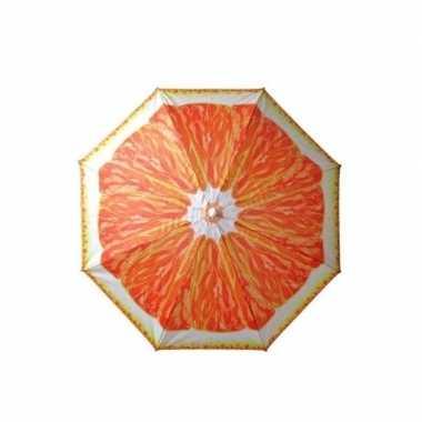 Goedkope verstelbare strandparasol / parasol met sinasappel print 180