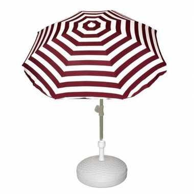 Goedkope vulbare parasol met rood wit gestreepte parasol
