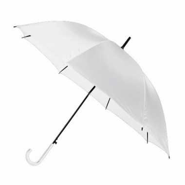 Goedkope witte automatische paraplu 107 cm