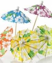 Goedkope ijs parasols bloemen 24 stuks