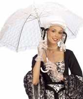 Goedkope kant paraplu wit