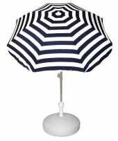 Goedkope vulbare parasol met blauw wit gestreepte parasol 10157272