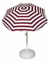 Goedkope vulbare parasol met rood wit gestreepte parasol 10157264